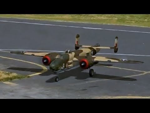 B-25 Mitchell Bomber RC Airplane Video2 (Realflight RC Simulator)