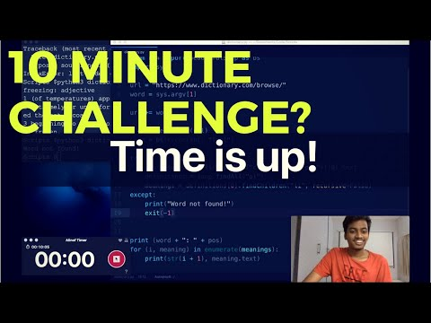 Can I Code a Dictionary App in 10 minutes? | Web Scraping | Python | Challenge