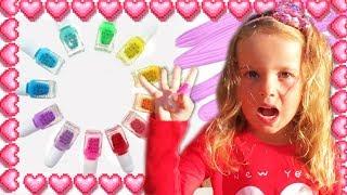 Косметика для девочек  Распаковка  Много Лаков для ногтей  Обзор