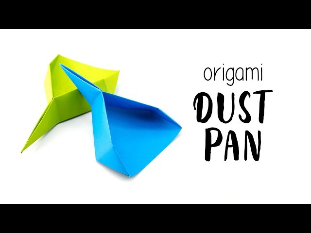 Easy Origami Dustpan / Scoop Tutorial ♥︎ Paper Kawaii