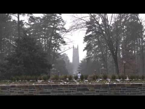 A Sprinkling of Snow at Duke University