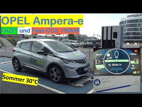 OPEL Ampera-e: Mein Fazit und nochmal Fast-CCS Laden an 150kW   PRAXISTEST   nextmove