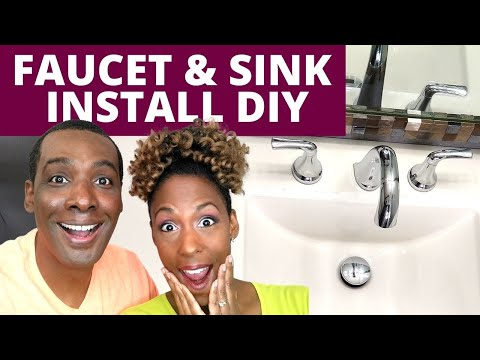 How We Installed a New Faucet & Sink for Our Bathroom Vanity | DIY Power Couple