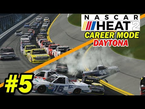 SIGNING WITH A TEAM and CRAZY DAYTONA DEBUT [NASCAR Heat 2 Career Mode -- Trucks 1/26]