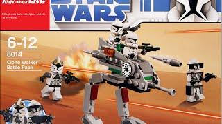 Обзор на лего звёздные войны Clone Walker Battle Pack 8014