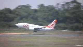 gol linhas areas boeing 737 700 pr gob takeoff at manaus sbeg mao