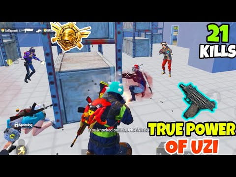 This is What Happens When You Use The True Power of UZI in PUBG Mobile • (21 KILLS) • PUBGM HINDI