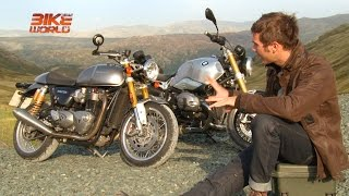 Triumph Thruxton R vs BMW R nine T