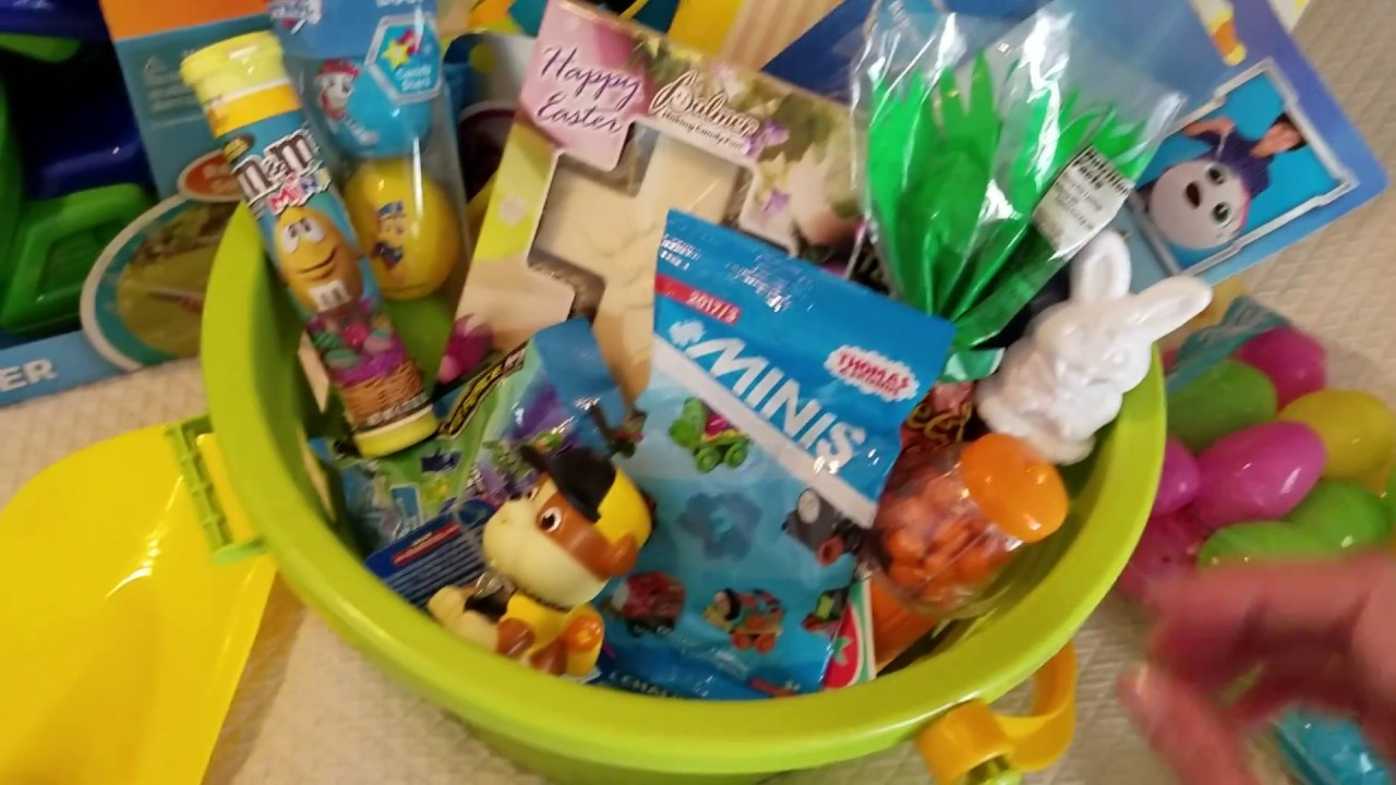 Easter gifts and filled basket for a 3 three year old boy youtube easter gifts and filled basket for a 3 three year old boy negle Gallery