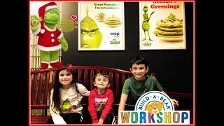 Build a Bear Santa Grinch and Grinch Green IHOP Pancakes VLOG!! #thegrinch