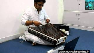 Online Santoor Lessons for beginners Learn playing Santoor on Skype videos Indian Santoor Guru