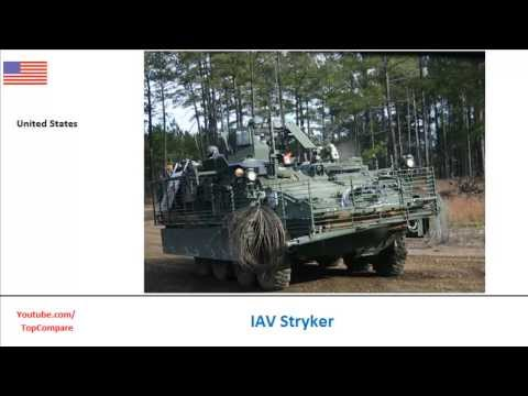 IAV Stryker compared to Freccia, Infantry Carrier Vehicle specifications  comparison