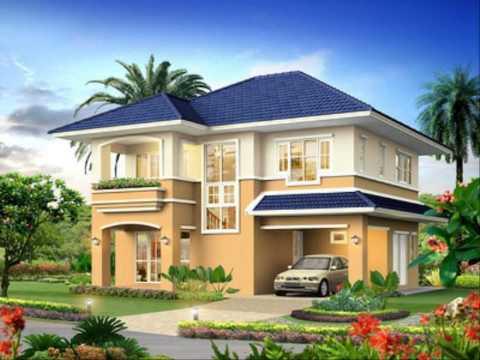โปรแกรมออกแบบบ้านฟรี แบบบ้านและสวนชั้นเดียว