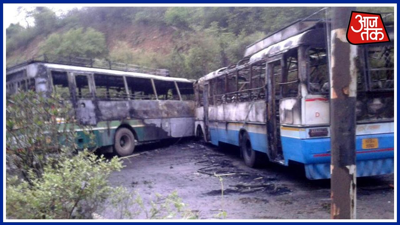 2 Buses Catch Fire After Collision Near Pathankot, Over 65 Injured :100  Shehar 100 Khabar