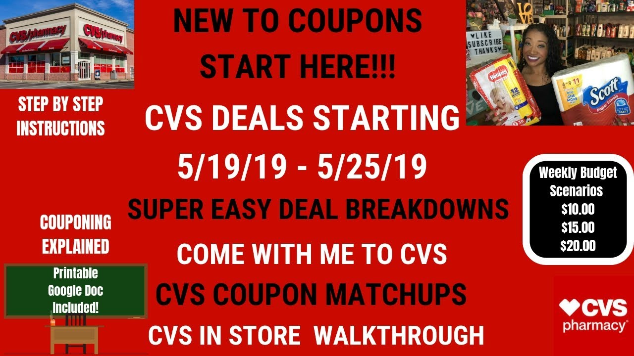 Very Easy New Couponer Cvs Deals Starting 5 19 19 Cvs Coupon Matchups Come With Me Lots Of Cheapfree