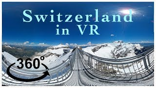 Virtually Switzerland - Glacier 3000 - by World Travel VR - (360 Video)
