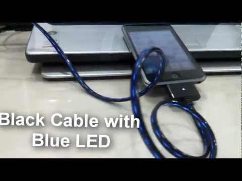Flowing LED USB Cable for Apple iPhone, iPod and iPad