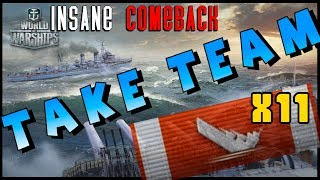 insane Comeback CARRY - YueYang/ Des Moines - DOUBLE FEATURE || World of Warships