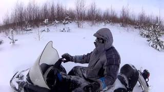 Охота на снегоходе. Проверка капканов.(Проверка капканов на бобра, куницу., 2016-01-23T20:33:53.000Z)