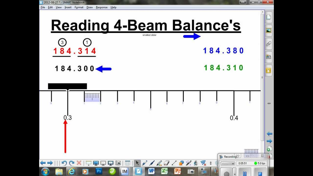 4Beam Balance reading the smallest slider YouTube – Triple Beam Balance Practice Worksheet