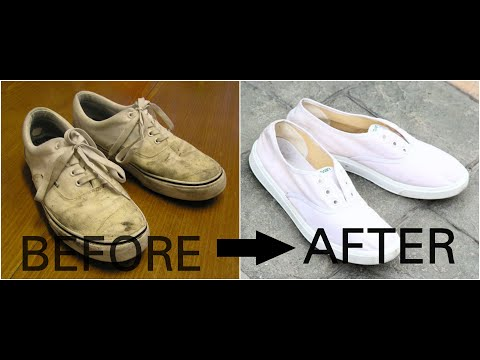 How to clean your tennis shoes