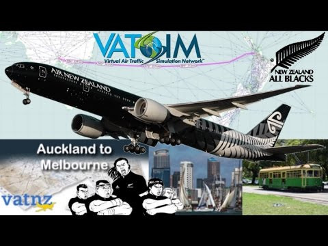 VATNZ PMDG 777-300ER All Blacks on Vatsim