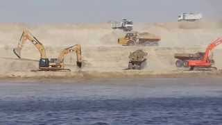 Suez Canal new: the first dredging site in the northern sector Balblah