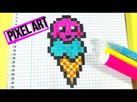Como Dibujar Un Helado Kawaii Facil Pixel Art