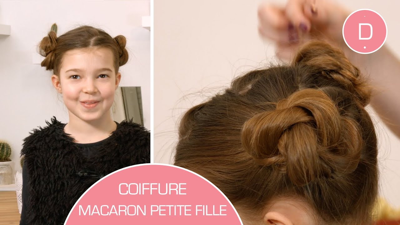 coiffure macarons pour petite fille tuto coiffure youtube. Black Bedroom Furniture Sets. Home Design Ideas