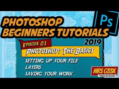 Photoshop Beginners Tutorial #1: The Basics - Setting up, Layers and Saving thumbnail