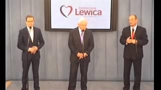 Leszek Miller, Dariusz Joński, Riad Haidar - konferencja z 22 września 2015 r.
