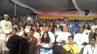 cbci   icym national youth award function   11th october 2013 trinity college jalandhar