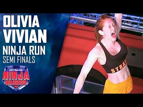 Olivia Vivian makes history with incredible Semi Final run   Australian Ninja Warrior 2019