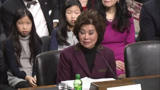 Senator Cortez Masto Questions Transportation Nominee Elaine Chao