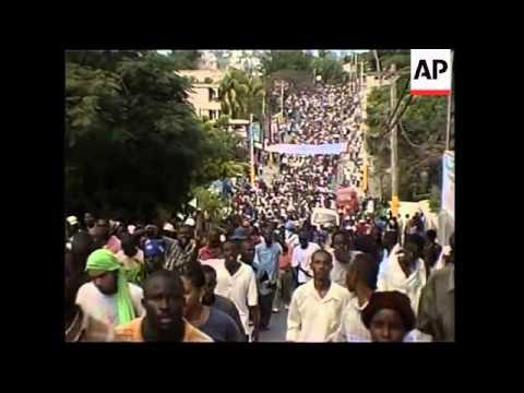 Protestors Call For Removal Of President Jean-Bertrand Aristide