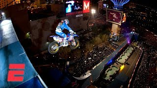Robbie Maddison's New Year's Eve jump in Las Vegas (2008) | New Year No Limits | ESPN Archive