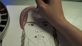 (手繪)Drawing The Addams Family-Wednesday Addams