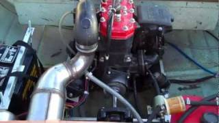 Jet Ski Powered Aluminum Row Boat Home Made Frankenboat By Rob H