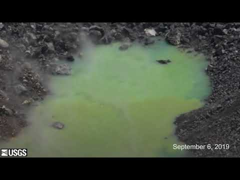 Timelapse Of Hawaii Volcano Green Water Rising