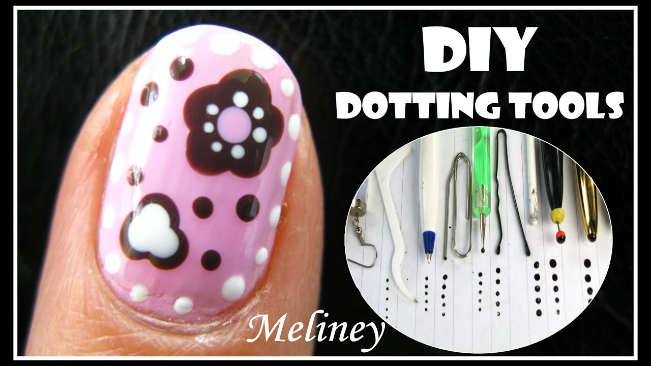 CRAFT FLOWER NAIL ART TUTORIAL | DIY DOTTING TOOL CANDY DESIGN EASY ...
