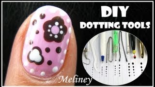 Craft Flower Nail Art Tutorial | Diy Dotting Tool Candy Design Easy Simple How To Short Nails