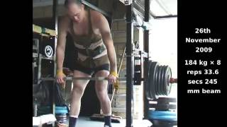 184 kg, 190 kg - Weightlifting - Training -