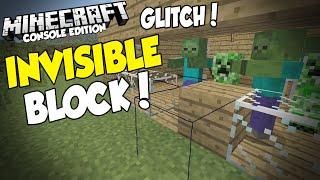 Minecraft [XBOX & PS3] INVISIBLE BLOCK GLITCH (Tutorial)