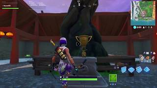 Fortnite Season X Look What I Found At Lucky Landing By The Big Tree Bugha Fortnite World Cup Trophy
