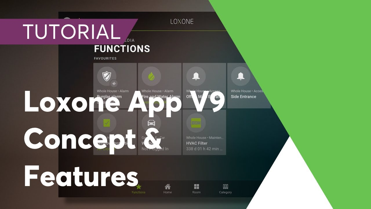 loxone smart home app 9 - concept & features