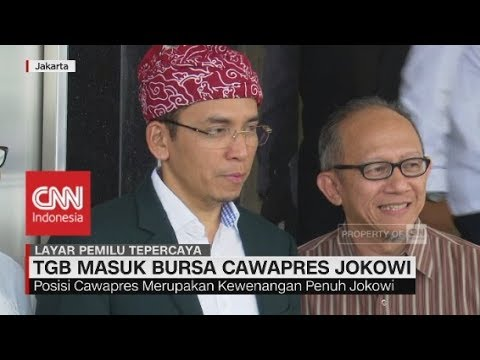 PDIP: TGB Masuk Bursa Cawapres Jokowi