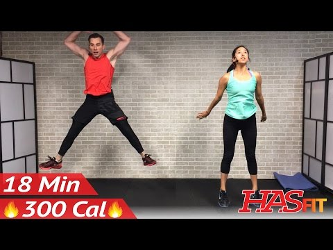 18 Min HIIT Cardio Workout No Equipment at Home - Full Body HIIT Home Workout without Equipment
