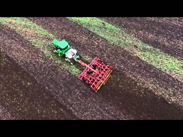 Tracteur John Deere Série 9RX - vue aérienne 360°