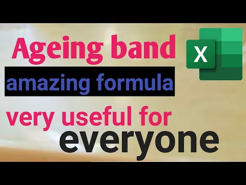 How To Show Ageing Band In Excel 2019 | Video 1