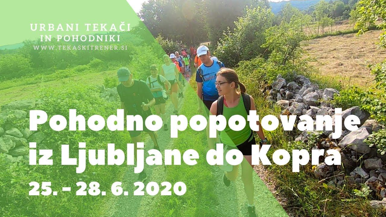 Pohodno popotovanje Ljubljana-Koper 2020
